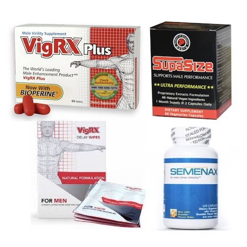 All-Nighter - Lockdown Special - SupaSize, Vigrx Plus, Semenax, Vigrx Wipes