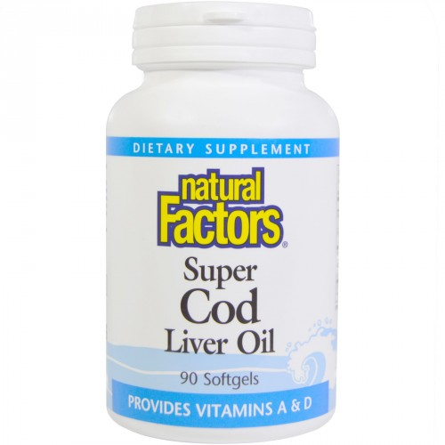 Super Cod Liver Oil for Testosterone - 90 Capsules (1,100 mg)