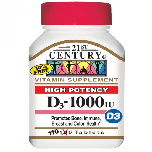 Vitamin D3 - 110 Tablets (1,000 iu)